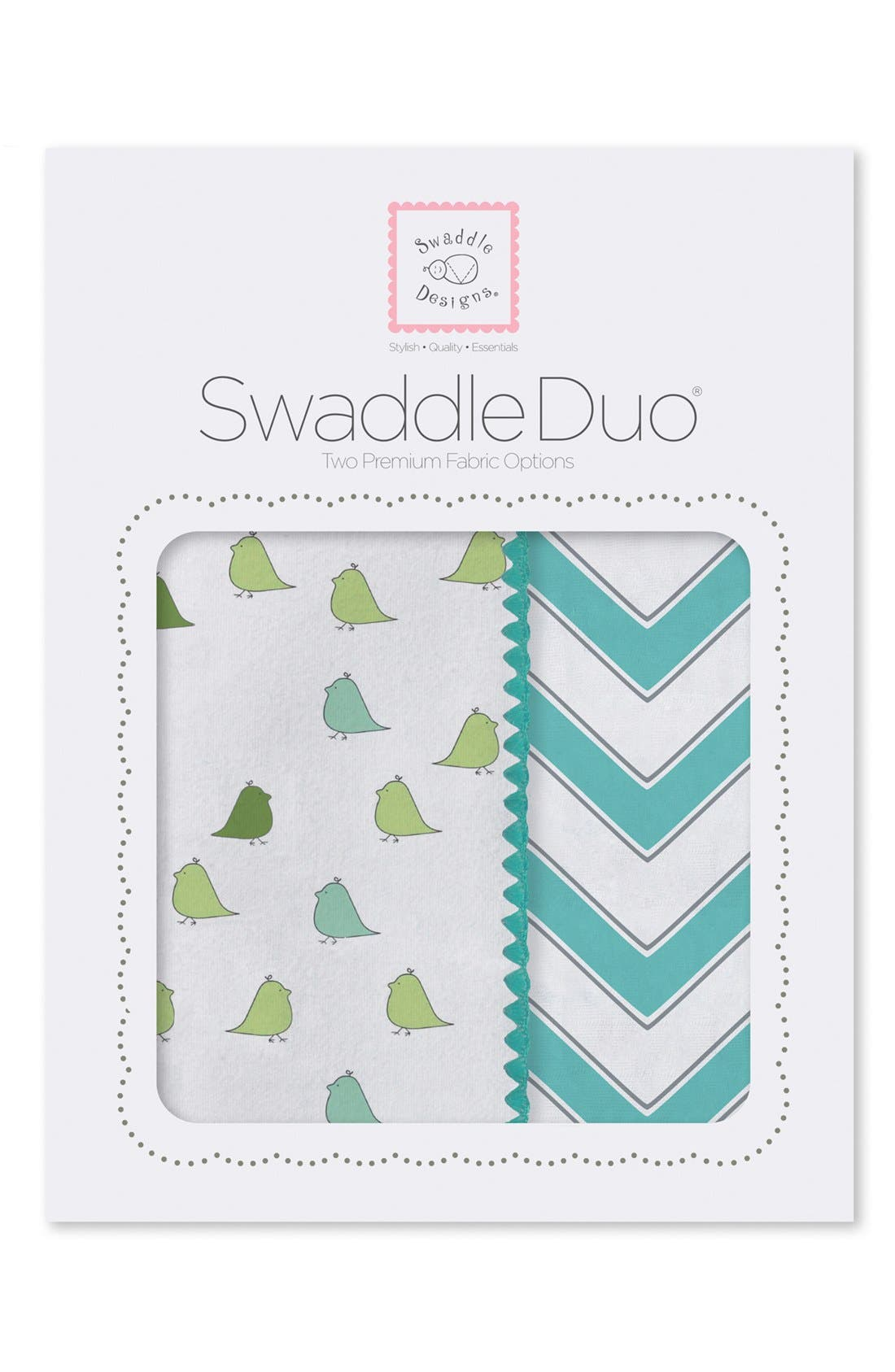 Alternate Image 1 Selected - Swaddle Designs 'Swaddle Duo' Receiving & Swaddling Blankets (Infant)