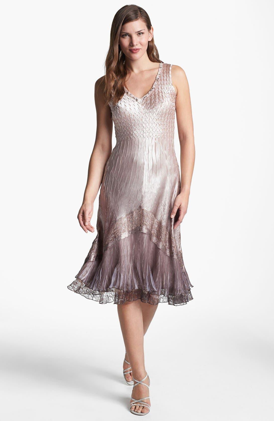 Alternate Image 2  - Komarov Textured Satin Dress & Jacket
