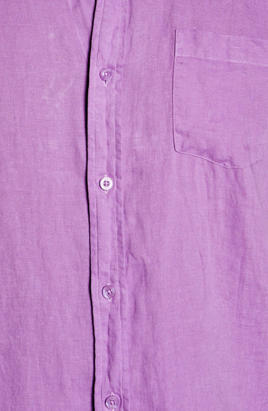 Alternate Image 3  - Toscano Regular Fit Linen Sport Shirt