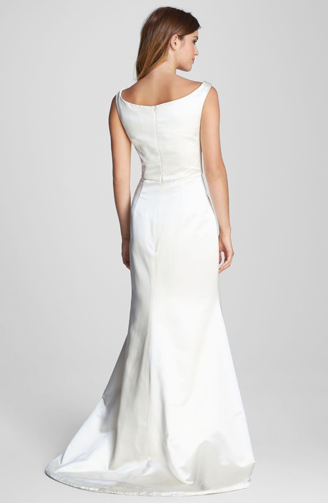 Alternate Image 2  - Caroline DeVillo 'Lauren' Silk Trumpet Dress (In Stores Only)
