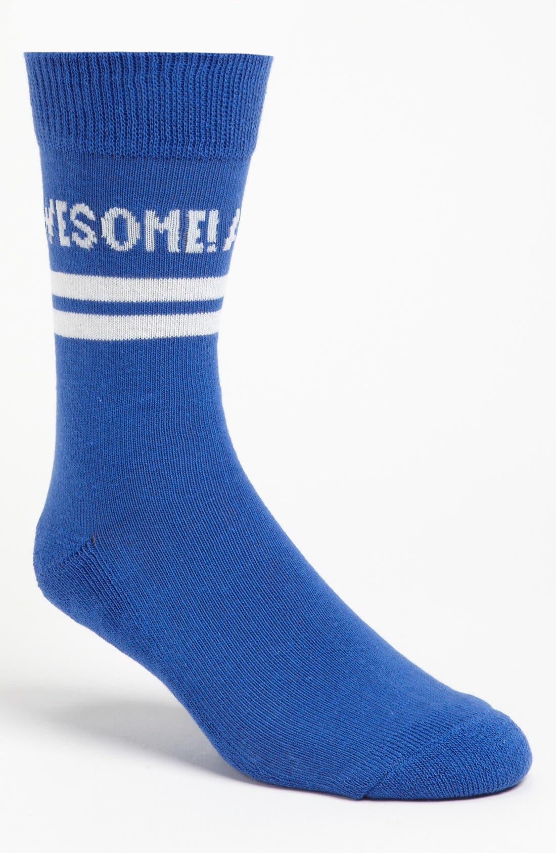 Main Image - Topman 'Awesome' Crew Socks