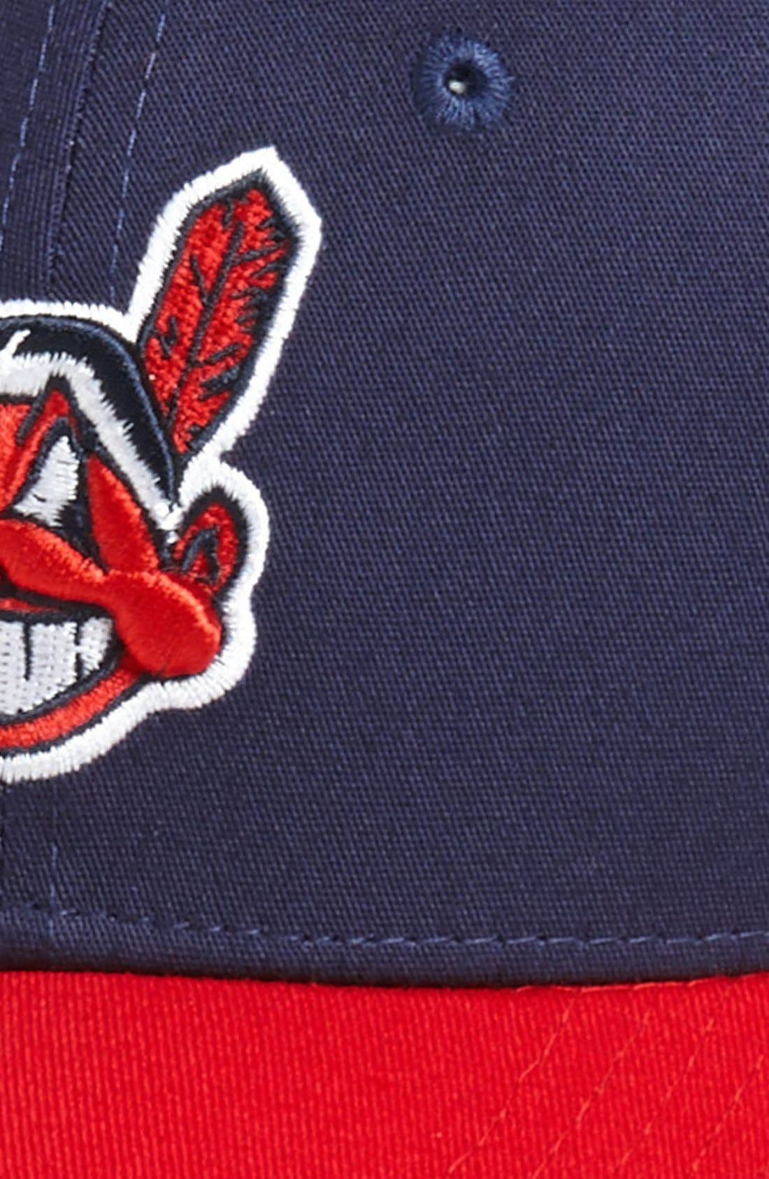Alternate Image 2  - New Era Cap 'Cleveland Indians - Tie Breaker' Baseball Cap (Big Boys)