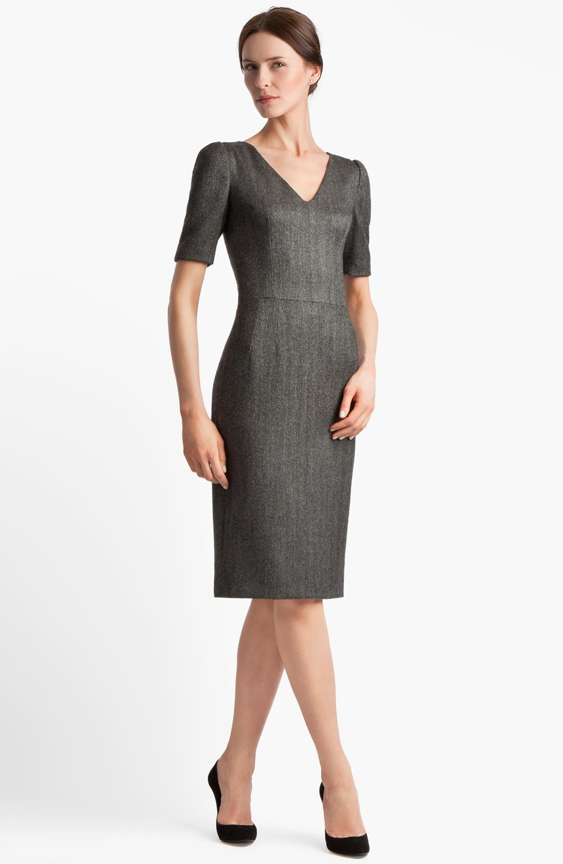 Alternate Image 1 Selected - Dolce&Gabbana Stretch Herringbone Dress