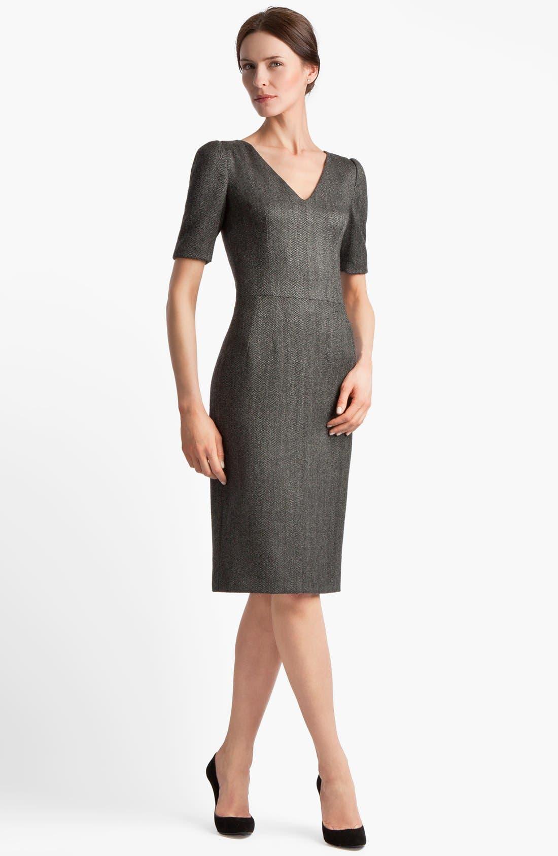 Main Image - Dolce&Gabbana Stretch Herringbone Dress