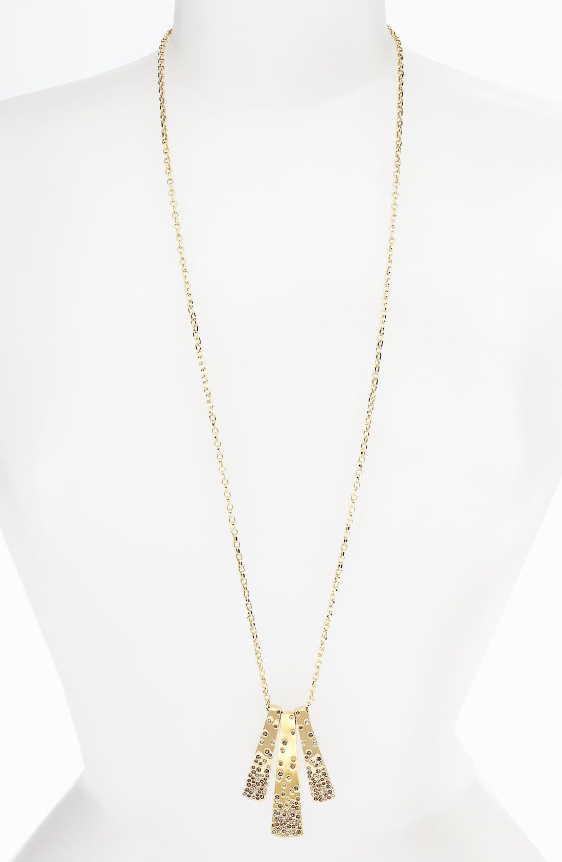 Main Image - St. John Collection Long Crystal Accented Necklace