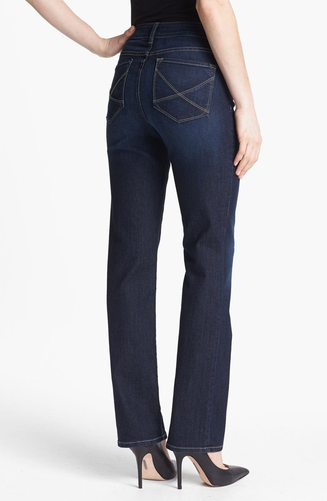 Alternate Image 3  - NYDJ 'Hayden' Stretch Straight Leg Jeans (Hollywood)