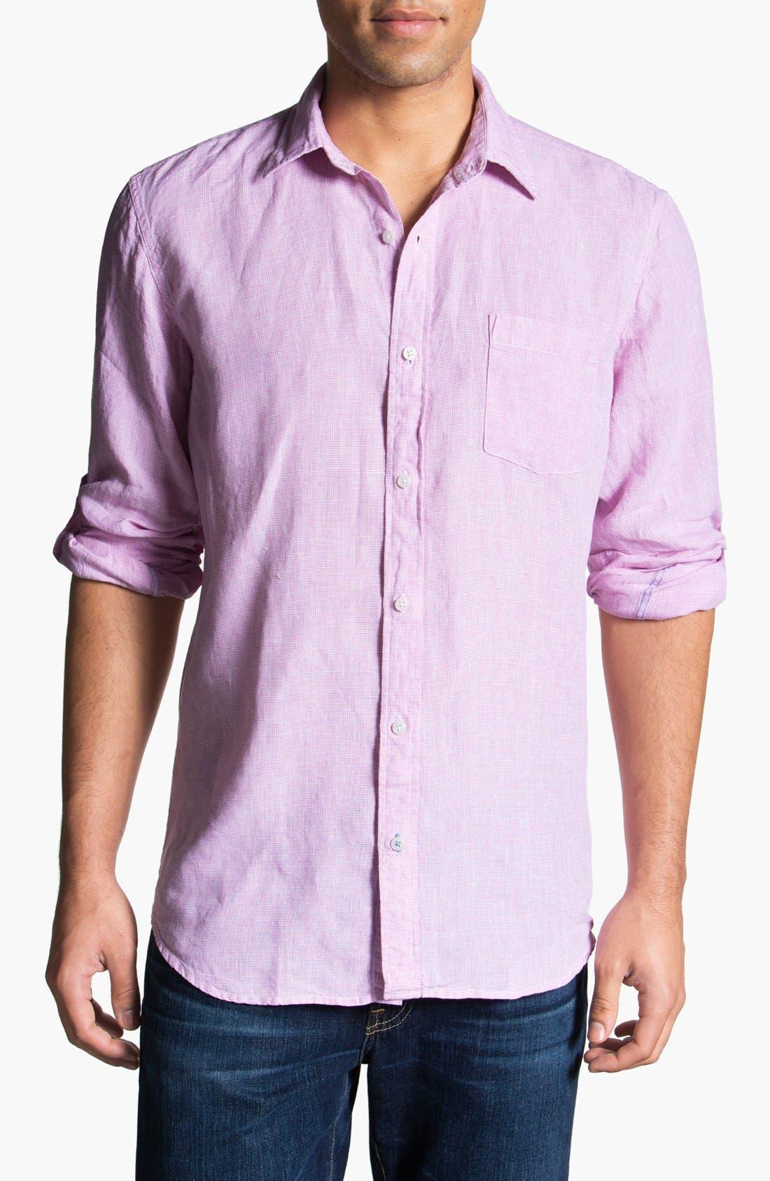 Main Image - Toscano Linen Sport Shirt (Big & Tall)