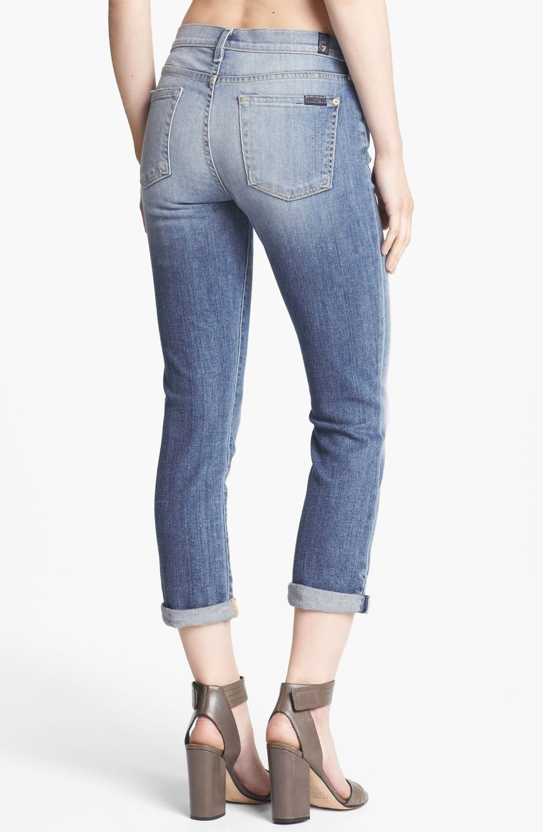 Alternate Image 2  - 7 For All Mankind® Crop Skinny Jeans (Summer Canyon Mountain)