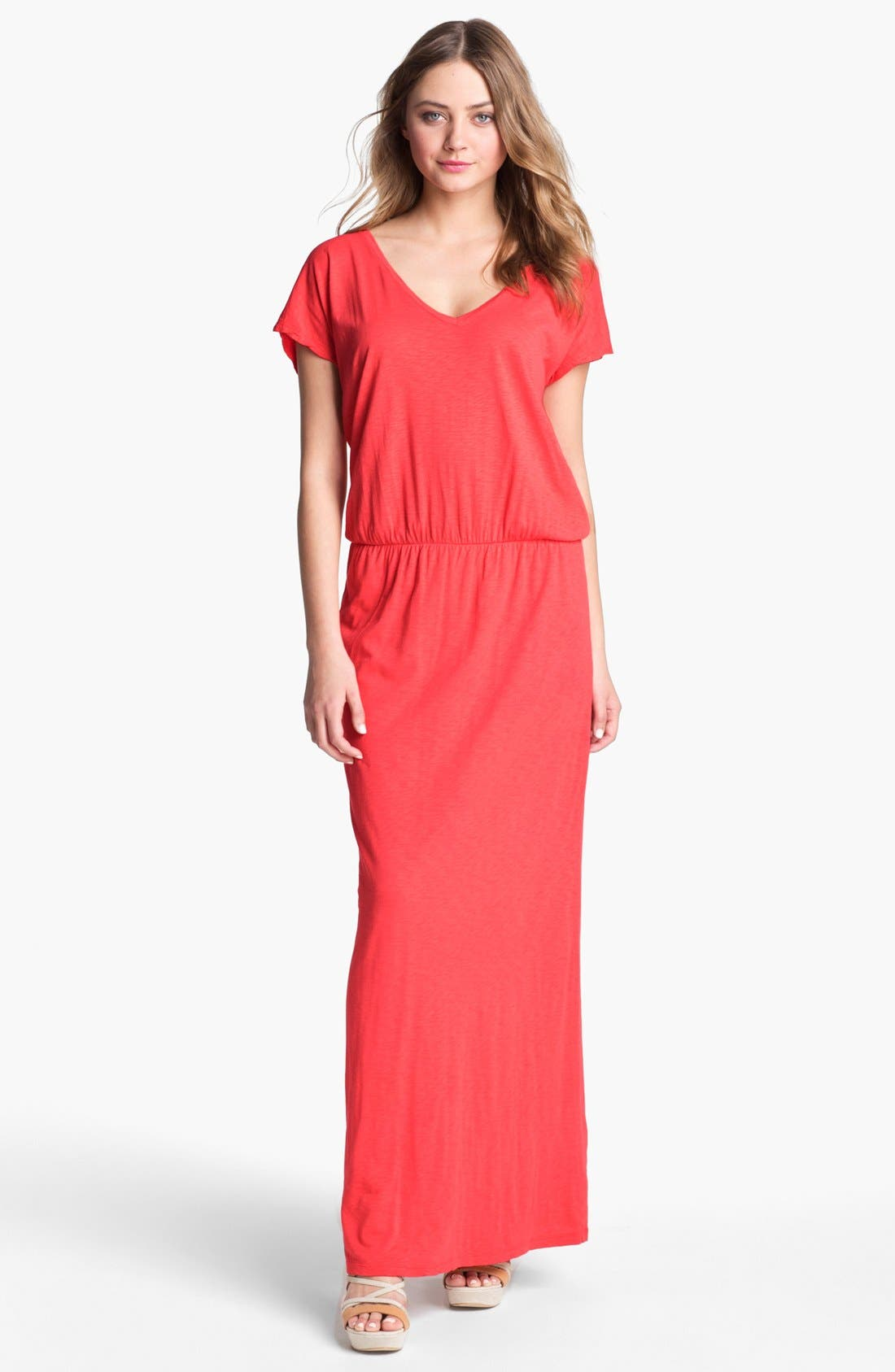 Main Image - Velvet by Graham & Spencer Blouson Maxi Dress
