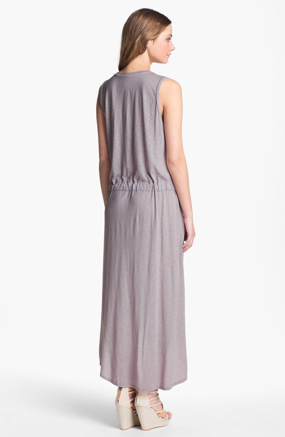 Alternate Image 2  - Velvet by Graham & Spencer Boxy Sleeveless Drop Waist Midi Dress