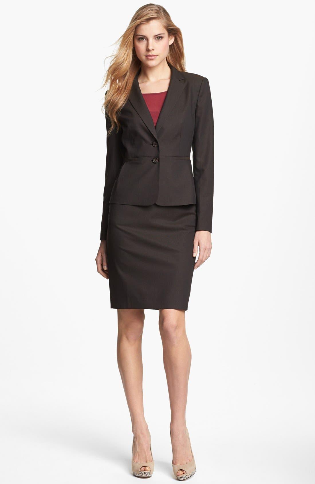 Alternate Image 1 Selected - Halogen® Suit Jacket, Top & Pencil Skirt