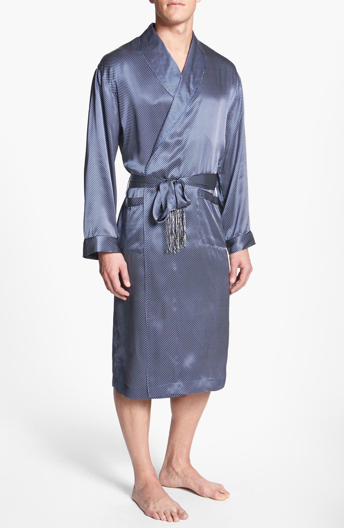 Alternate Image 1 Selected - Majestic International 'Cypress' Silk Dot Robe