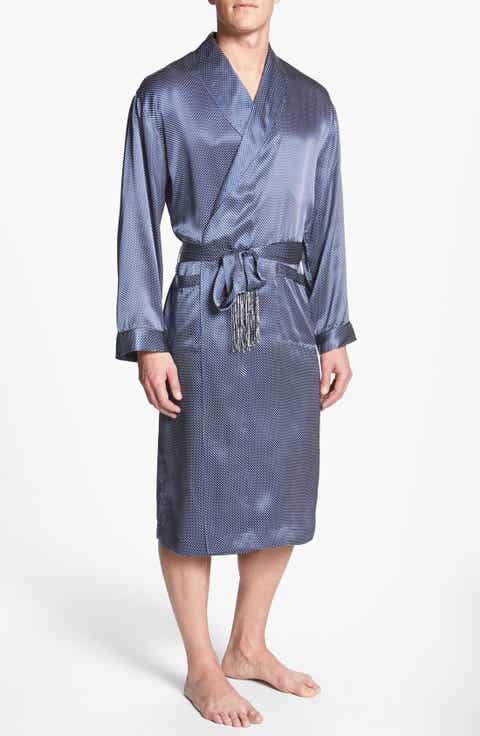 Majestic International 'Cypress' Silk Dot Robe