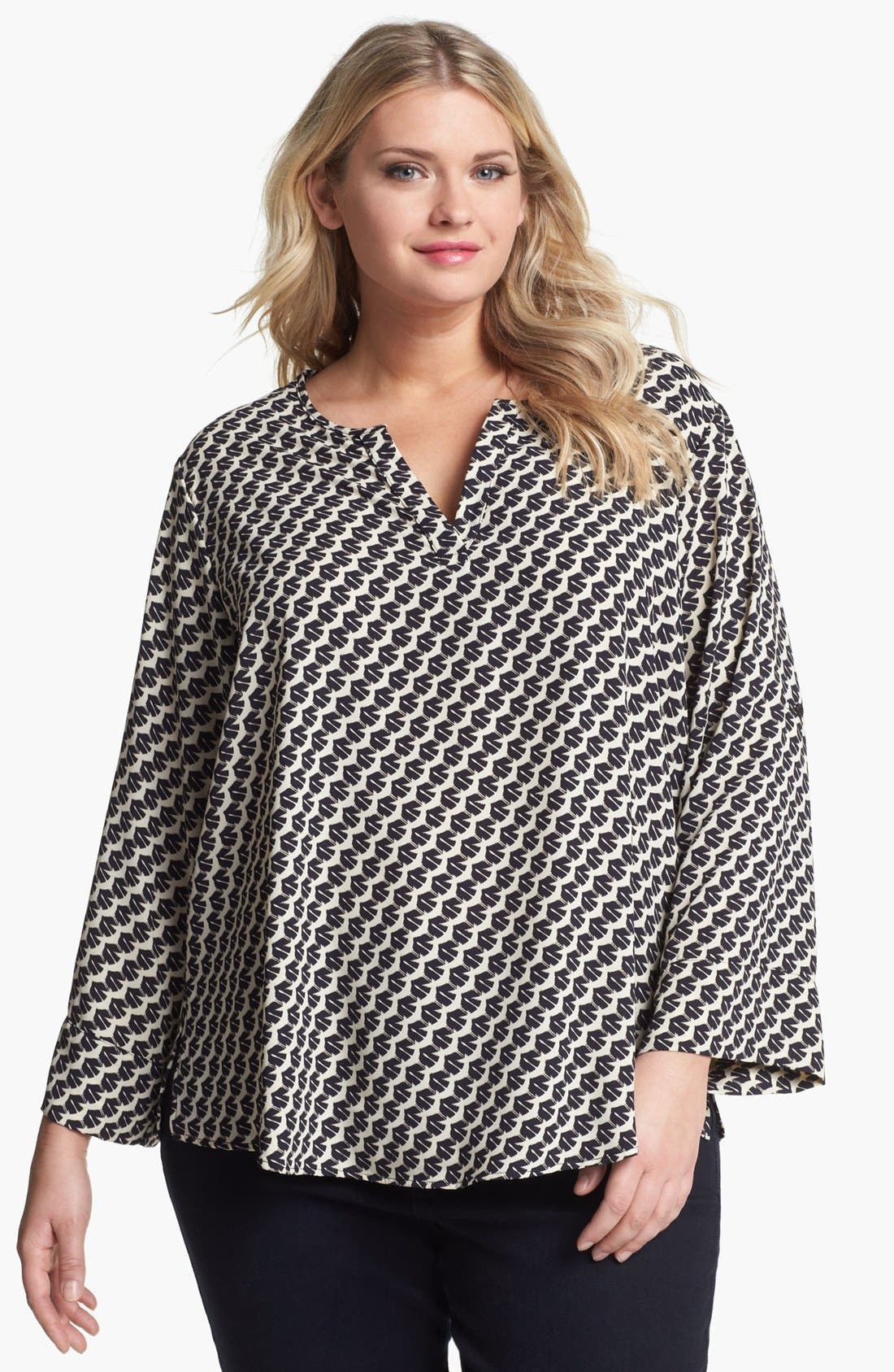 Alternate Image 1 Selected - Collective Concepts Print Tunic (Plus Size)