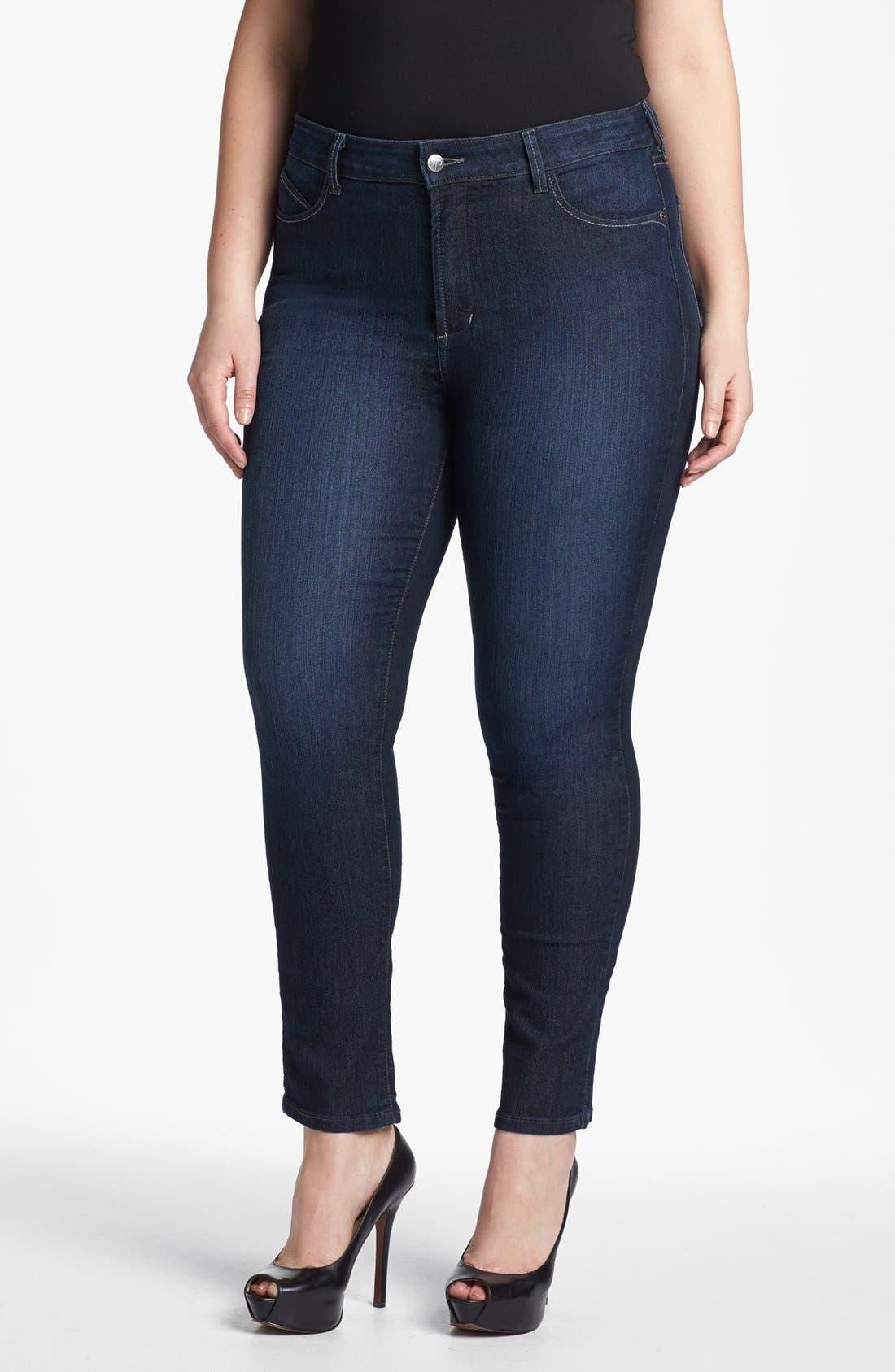 Alternate Image 1 Selected - NYDJ 'Alina' Denim Leggings (Plus Size)