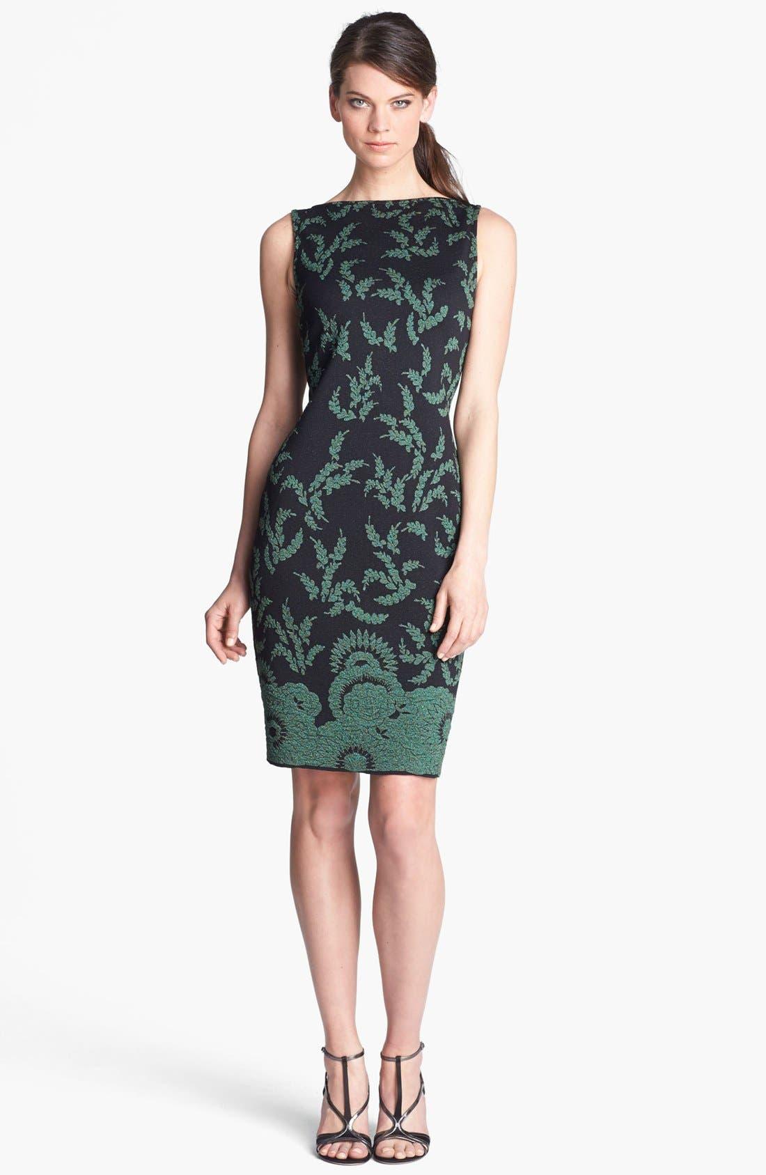 Main Image - St. John Collection Plume Floral Brocade Dress