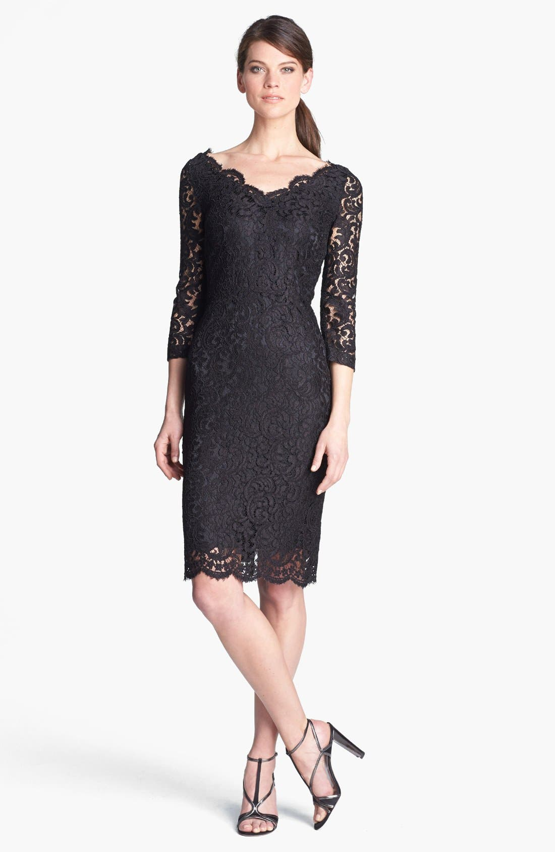 Alternate Image 1 Selected - St. John Collection Plume Lace Dress