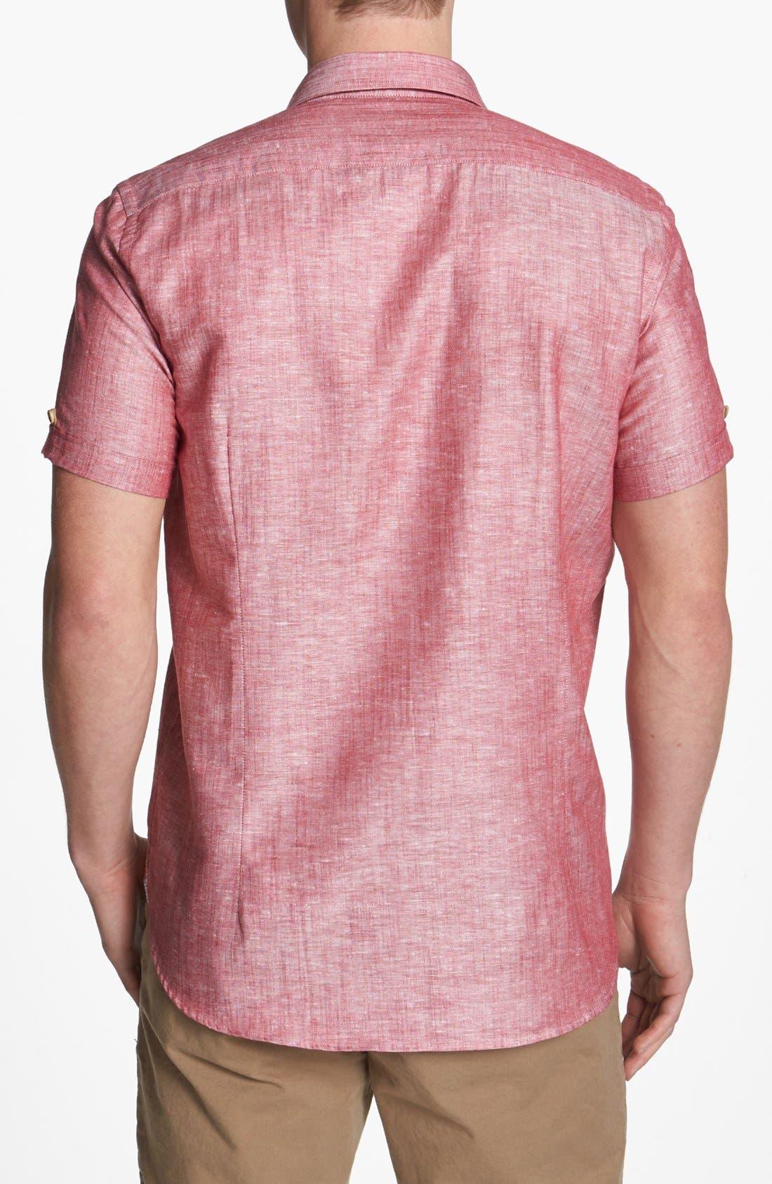 Alternate Image 2  - Ted Baker London 'Mytime' Linen Blend Campshirt