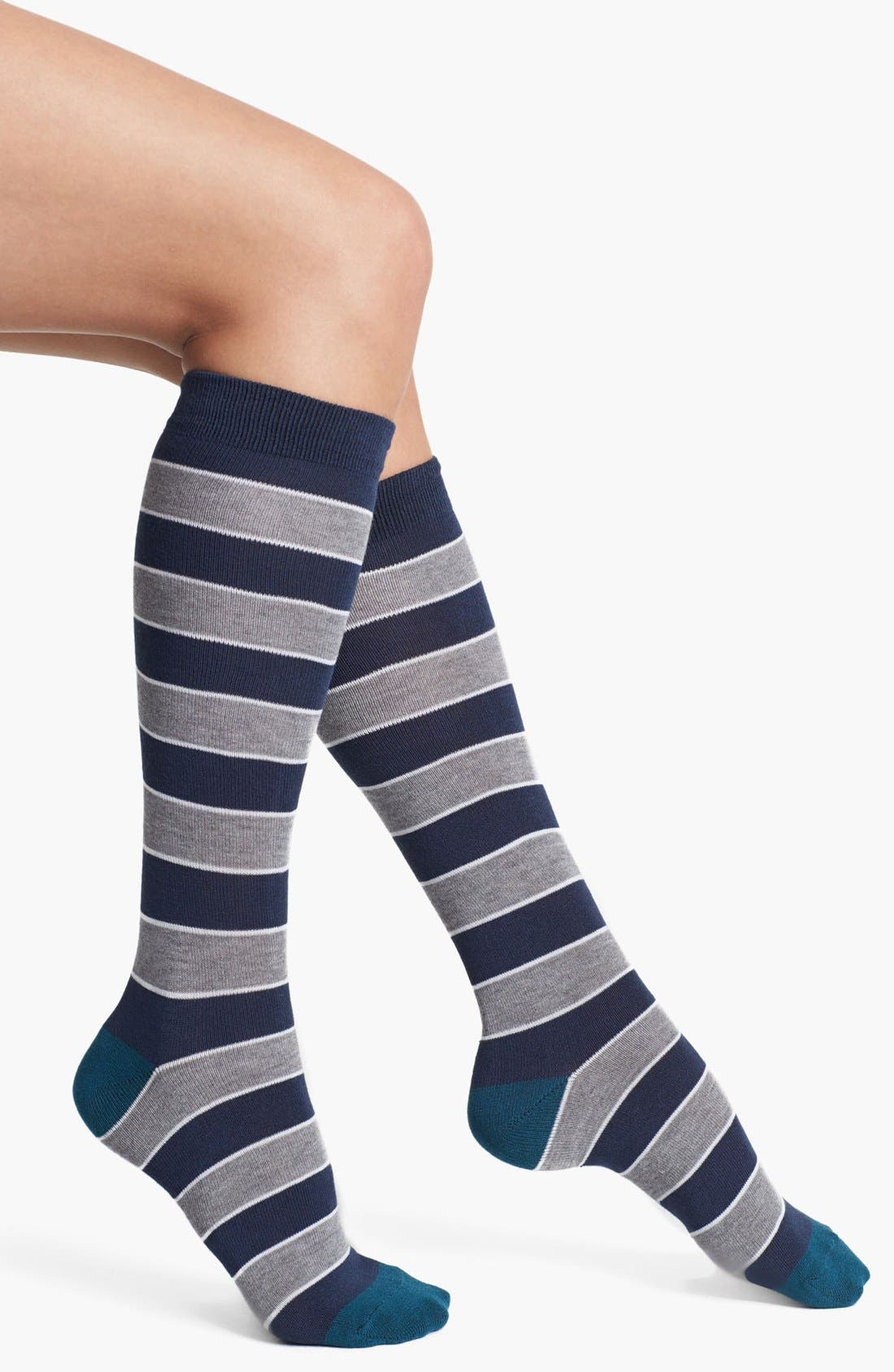 Main Image - Nordstrom 'Soft Touch' Stripe Knee High Socks