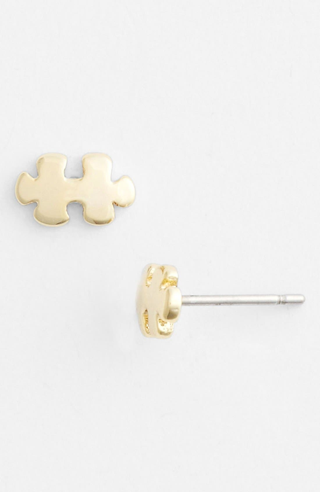 Main Image - Ariella Collection Puzzle Piece Stud Earrings (Nordstrom Exclusive)