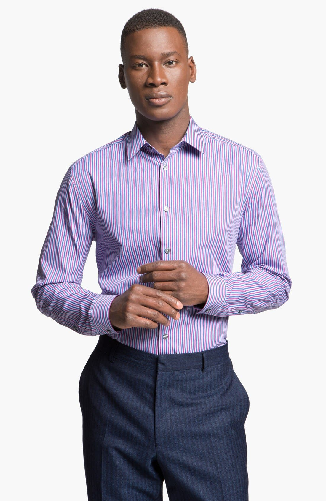 Main Image - Paul Smith London Slim Fit Multi Stripe Dress Shirt