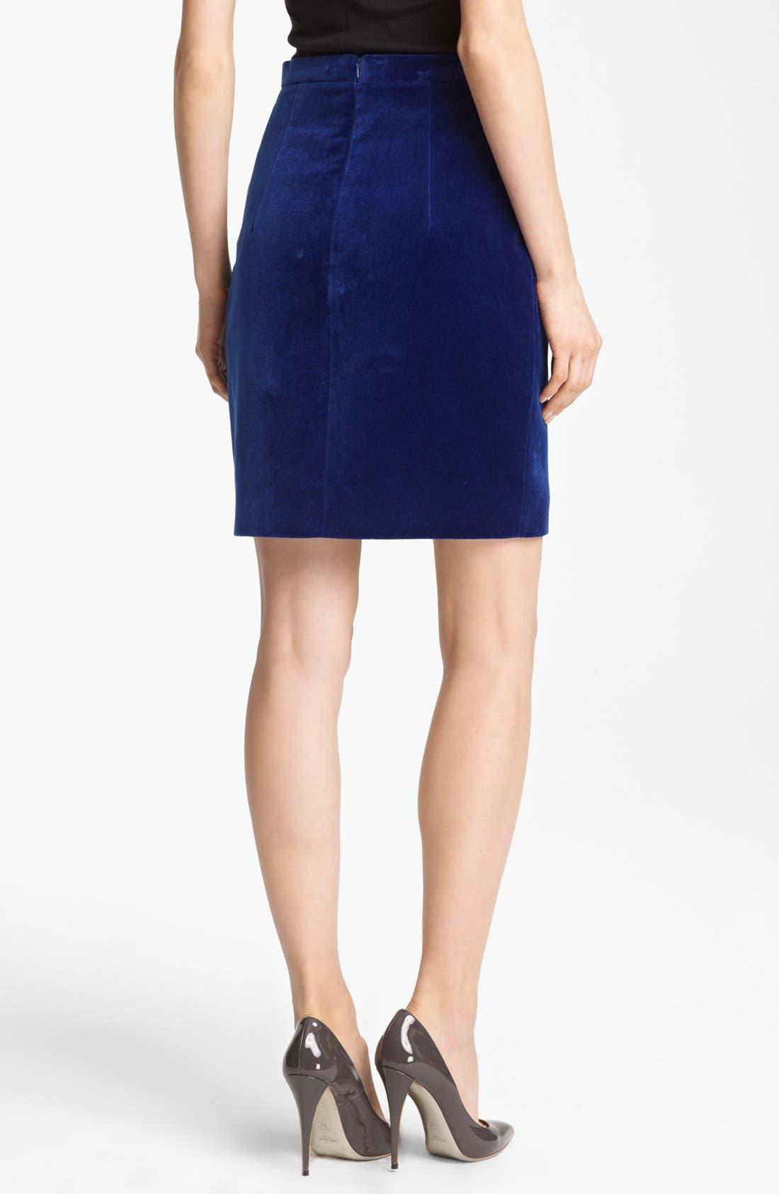 Alternate Image 2  - Christopher Kane Velvet Pencil Skirt