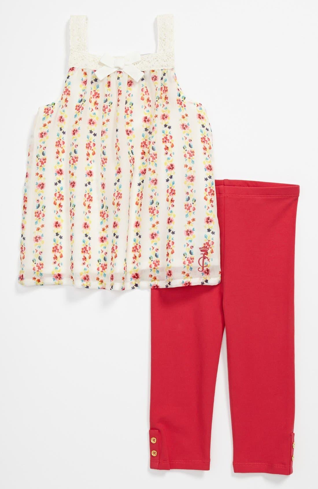 Alternate Image 1 Selected - Juicy Couture Tank Top & Leggings (Baby Girls)