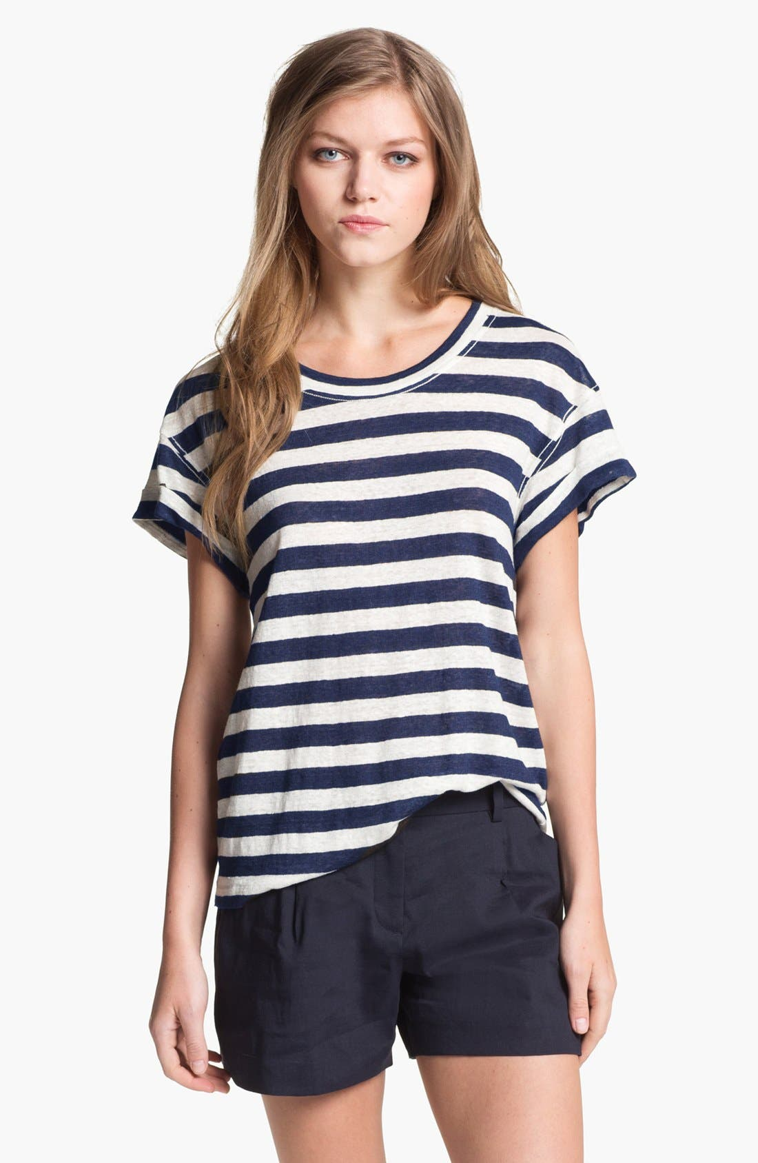 Alternate Image 1 Selected - Theory 'Lisso' Stripe Tee