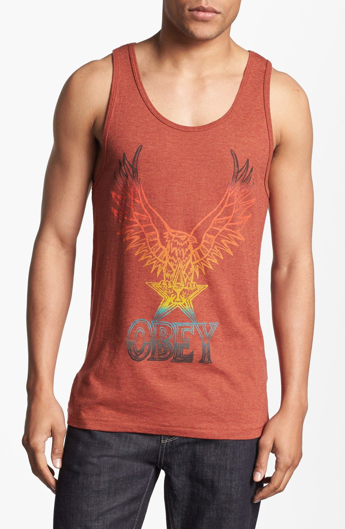 Main Image - Obey 'Take Flight' Graphic Tank Top