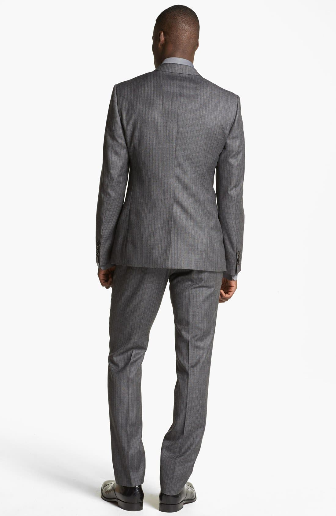 Alternate Image 3  - Dolce&Gabbana 'Martini' Herringbone Wool Suit