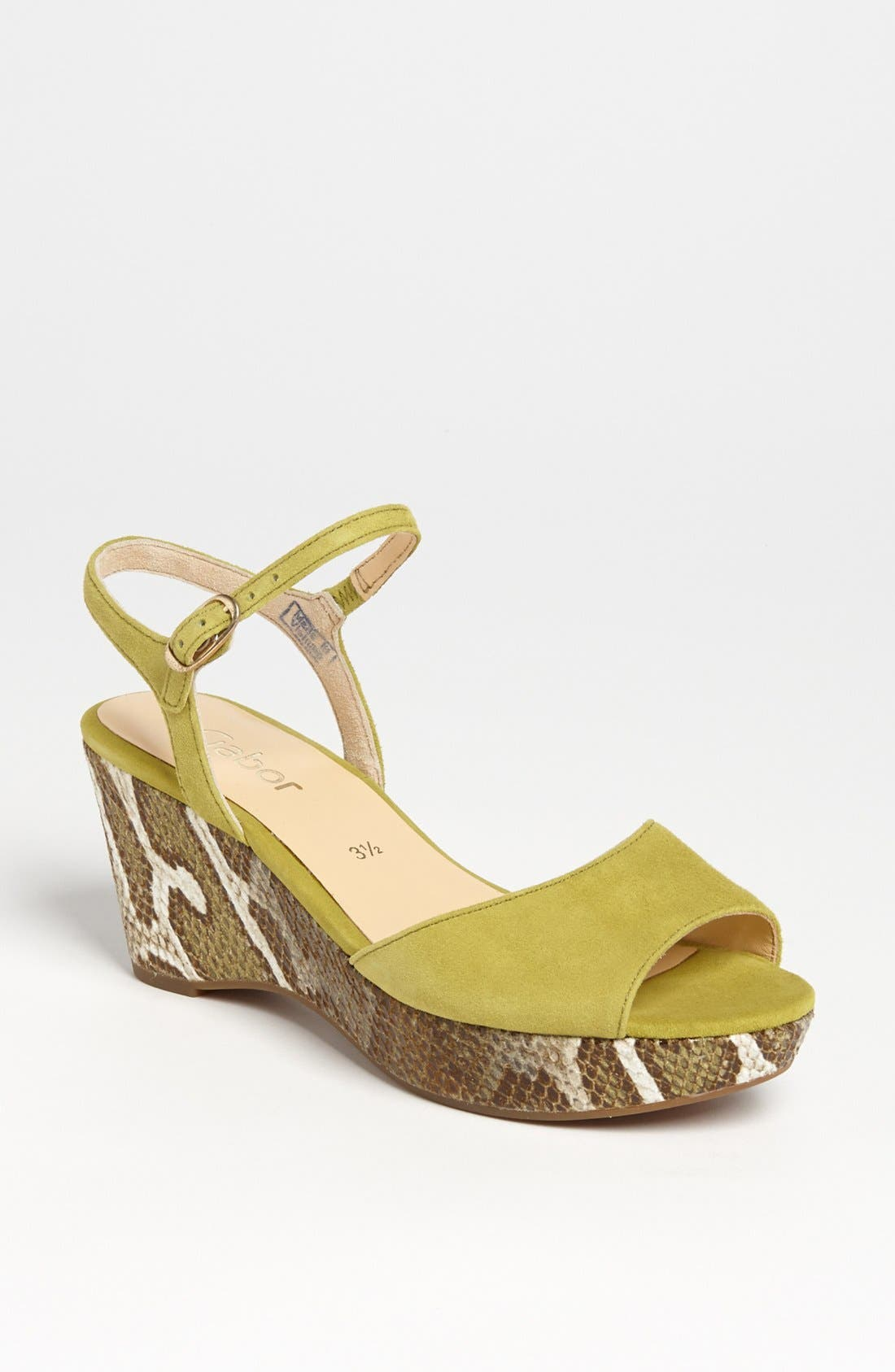 Alternate Image 1 Selected - Gabor Wedge Sandal (Online Only)