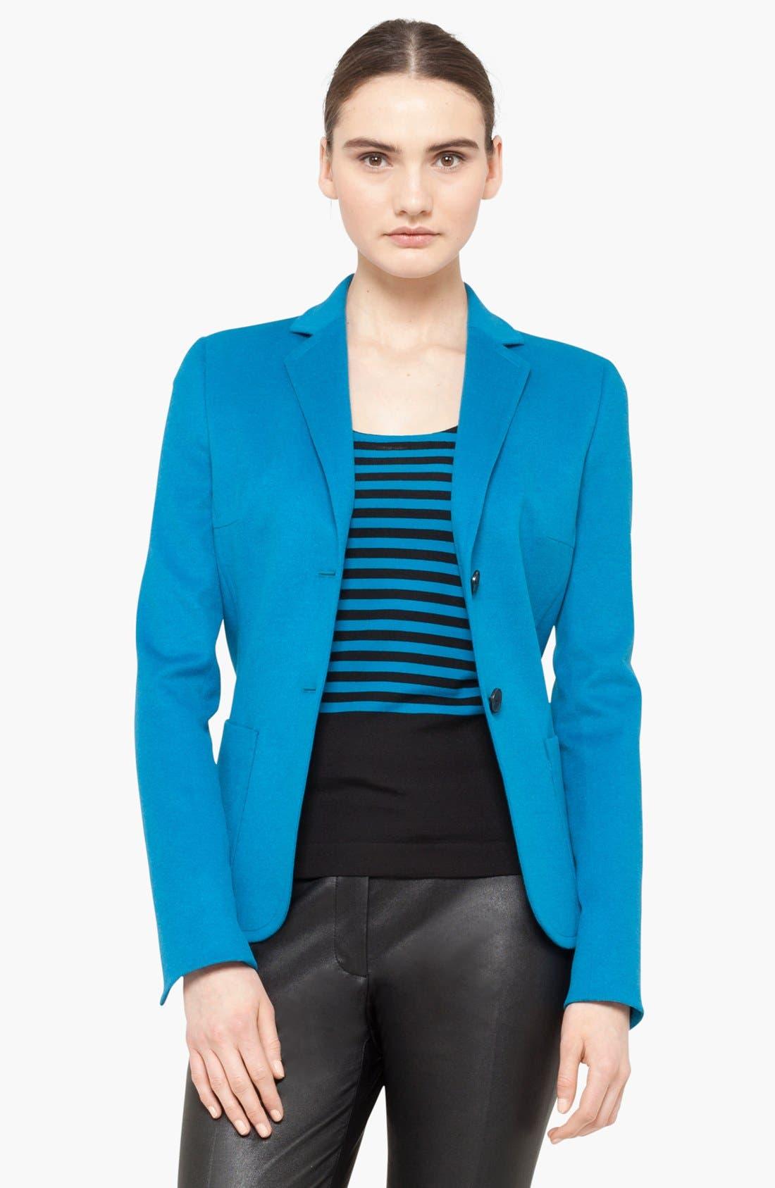 Alternate Image 1 Selected - Akris punto Wool Blend Two Button Blazer