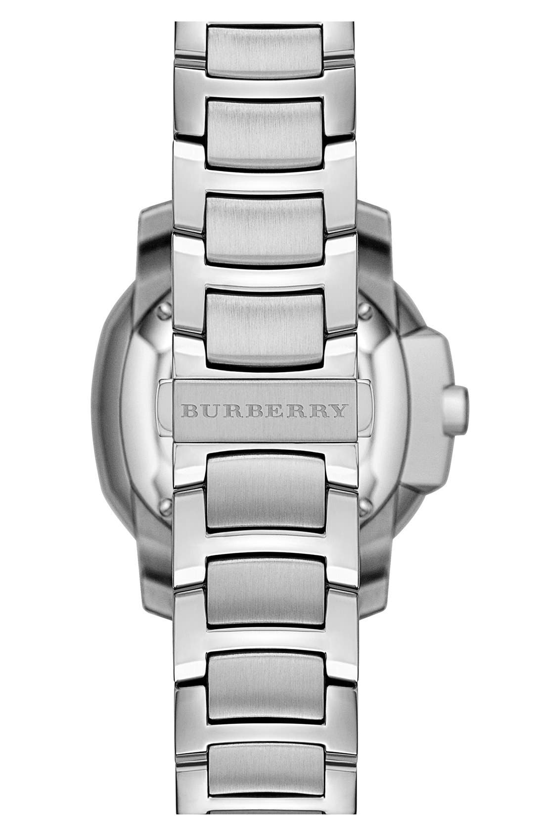 Alternate Image 4  - Burberry The Britain Diamond Bezel Bracelet Watch, 34mm