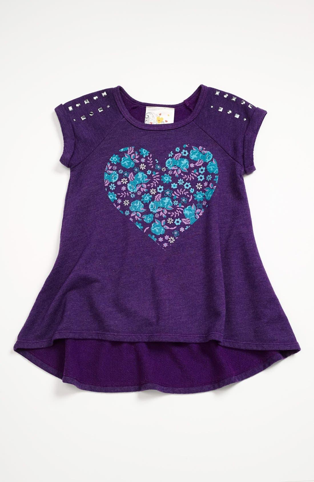Alternate Image 1 Selected - Jenna & Jessie 'Heart' Fleece Top (Little Girls)