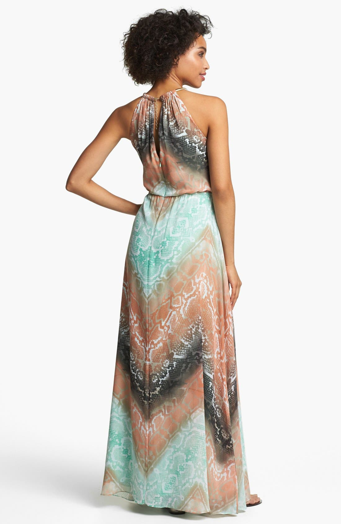 Alternate Image 2  - Vince Camuto Python Print Chiffon Maxi Dress