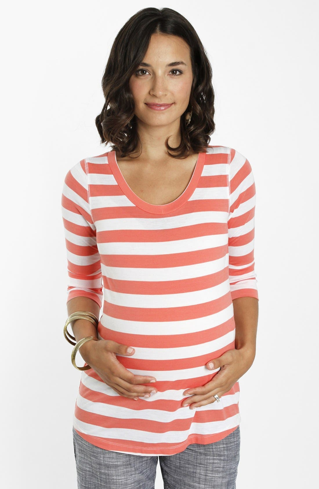 Alternate Image 1 Selected - Everly Grey 'Sarina' Maternity Tee