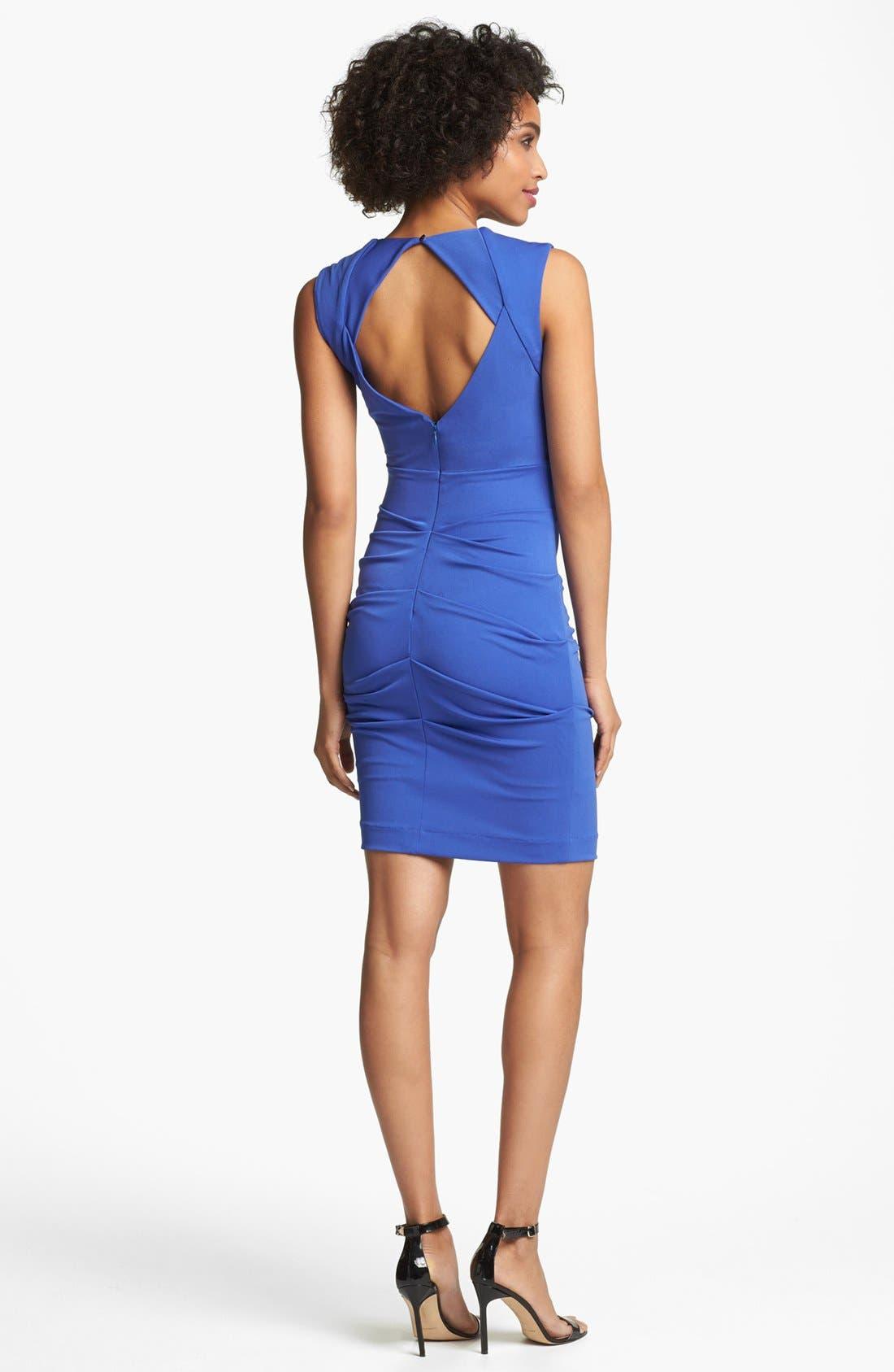 Alternate Image 2  - Nicole Miller Ruched Matte Jersey Dress