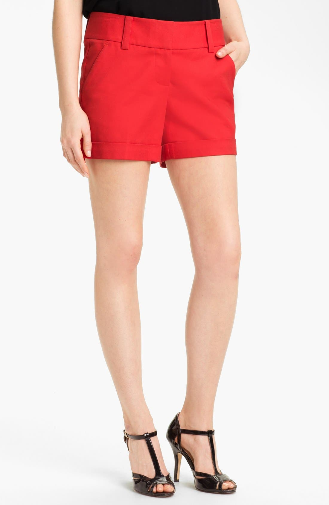 Alternate Image 1 Selected - Vince Camuto Cuff Shorts (Regular & Petite)