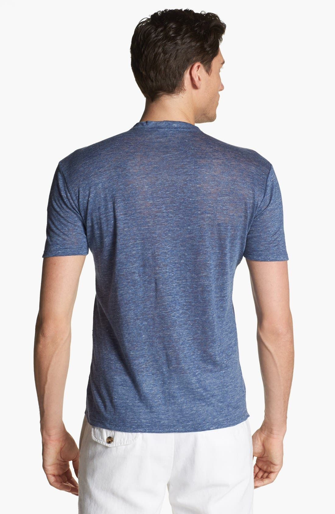 Alternate Image 2  - Vince V-Neck Linen T-Shirt