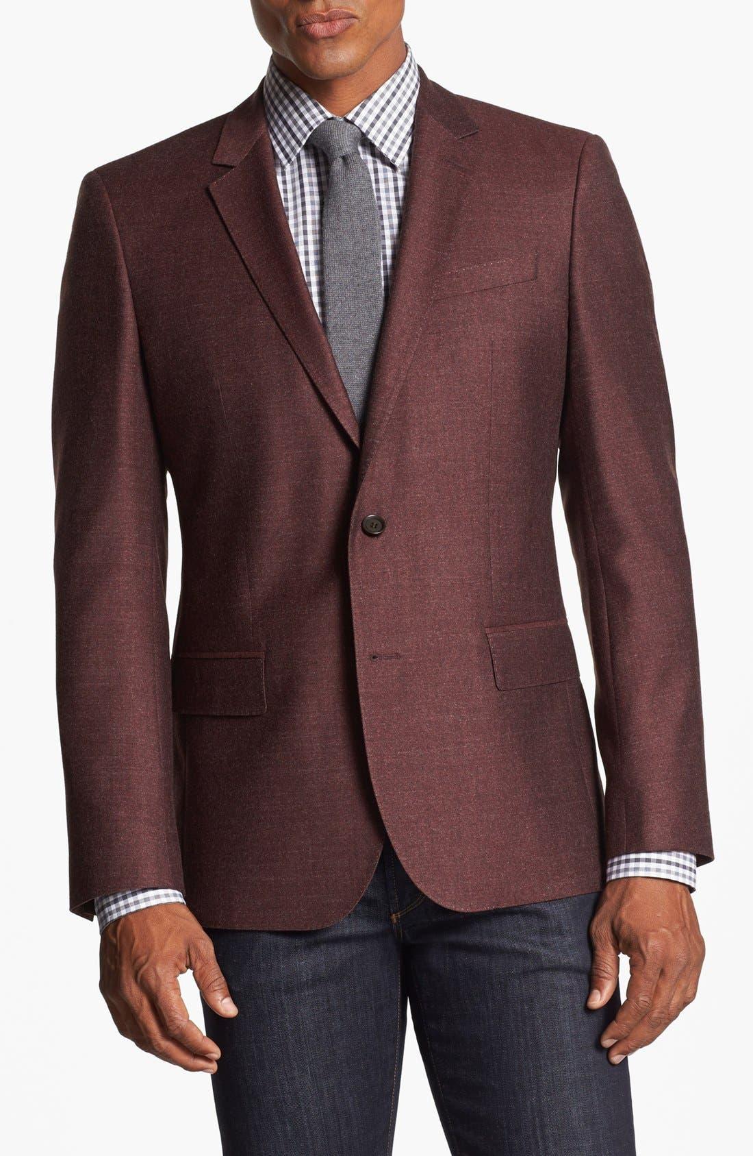 Main Image - BOSS HUGO BOSS 'Hutch' Trim Fit Wool Blazer