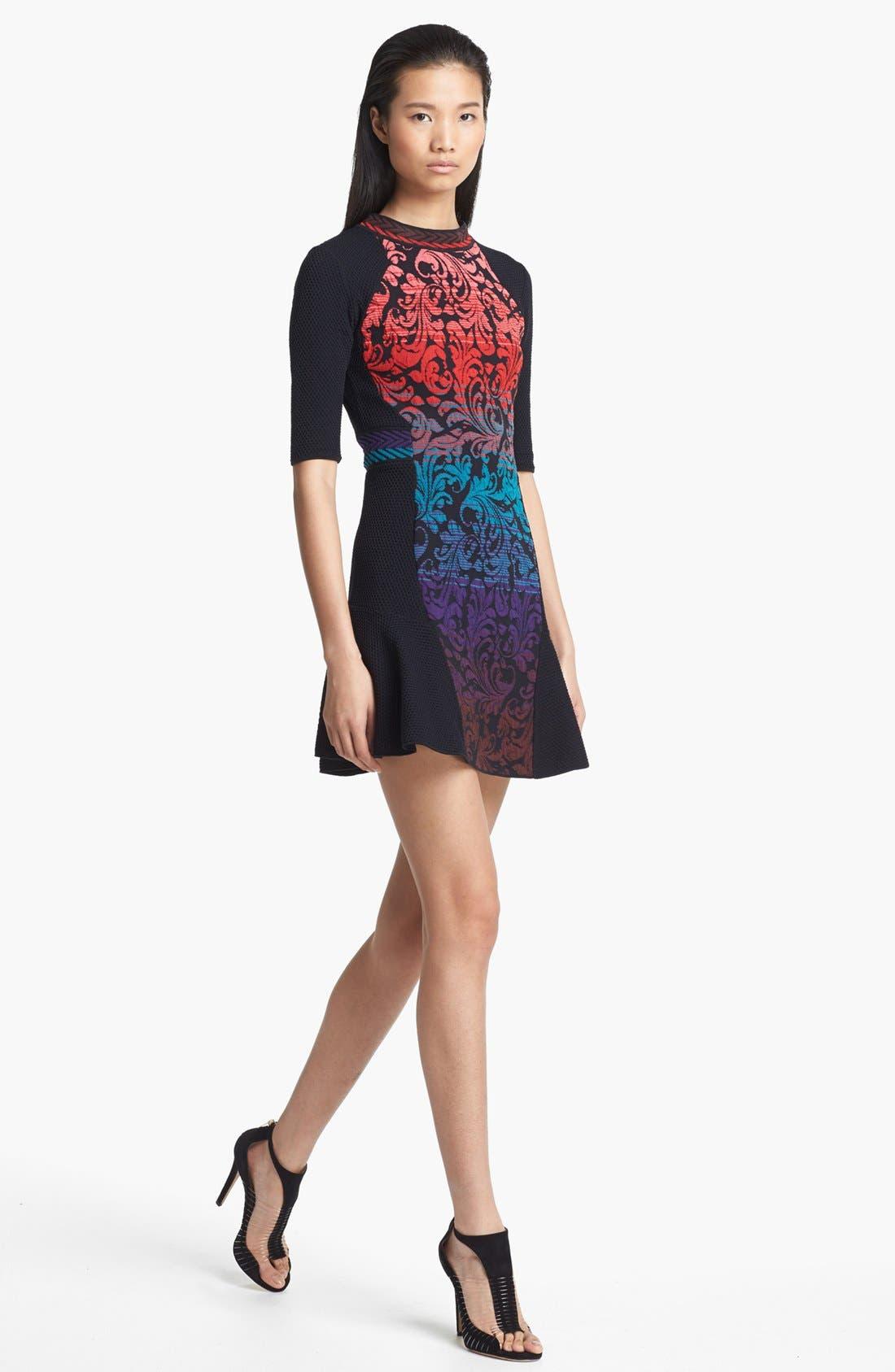 Main Image - M Missoni Brocade Intarsia Knit Dress