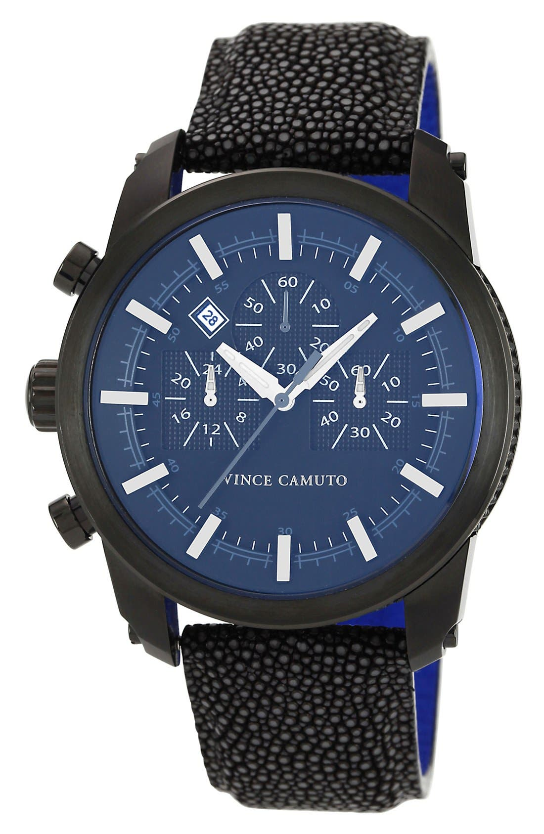 Main Image - Vince Camuto Round Chronograph Stingray Strap Watch, 46mm
