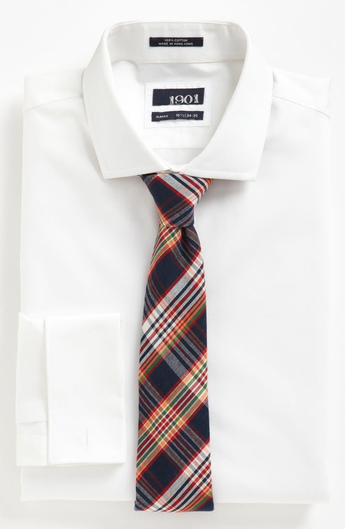 Alternate Image 2  - 1901 Dress Shirt & Gitman Tie
