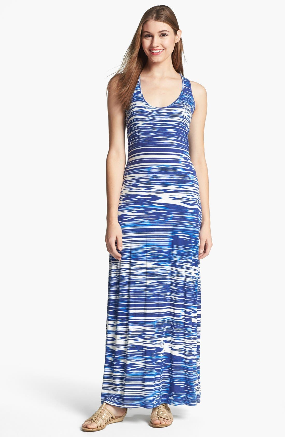 Alternate Image 1 Selected - Calvin Klein Racerback Knit Maxi Dress