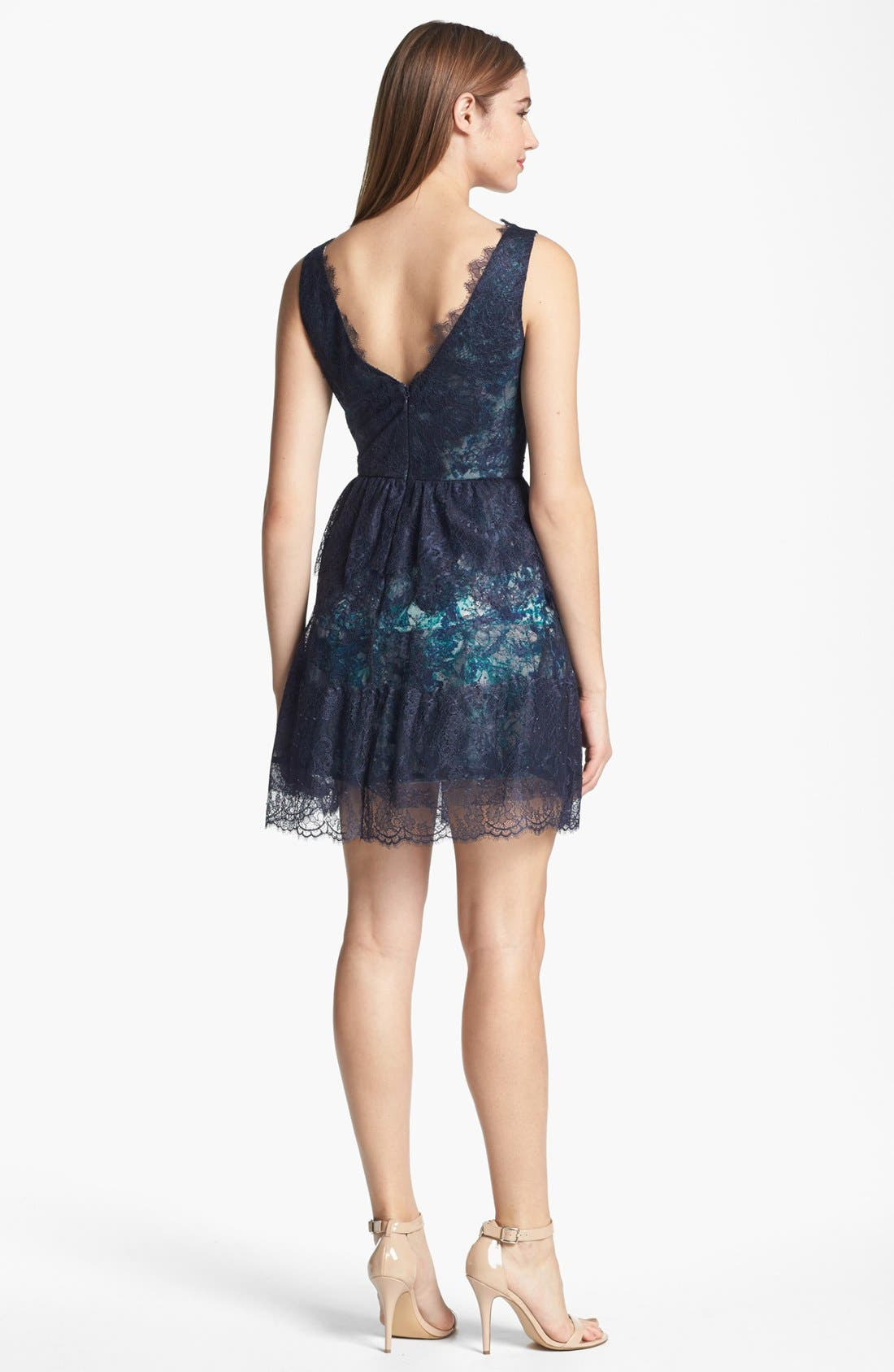 Alternate Image 2  - BCBGMAXAZRIA Lace Fit & Flare Dress
