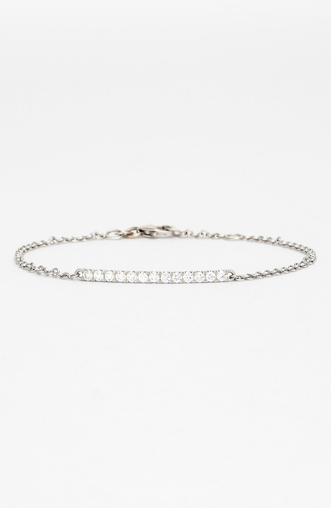 Main Image - Bony Levy 'Stick' Pavé Diamond Bar Bracelet (Nordstrom Exclusive)