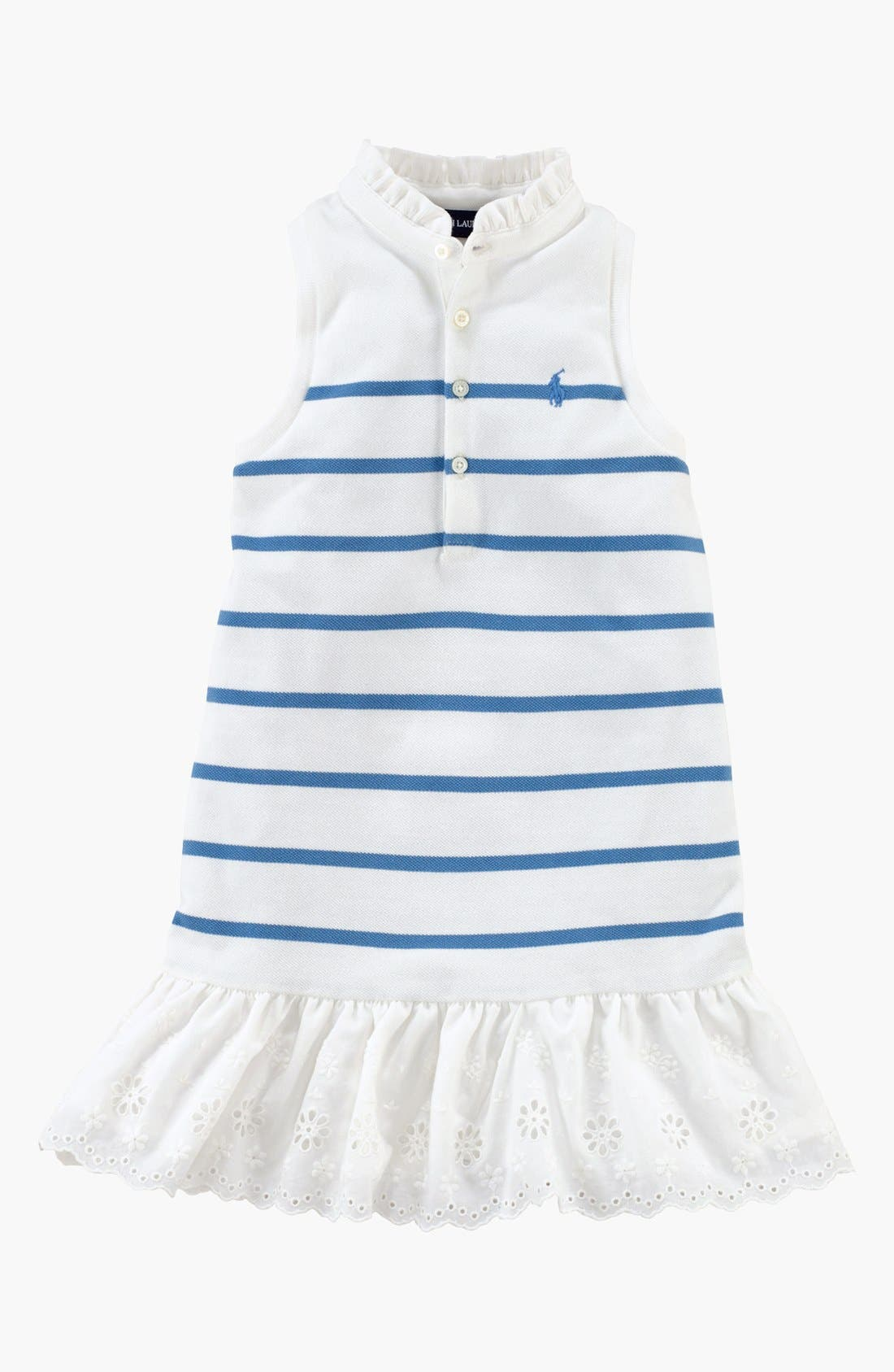 Alternate Image 1 Selected - Ralph Lauren Sleeveless Polo Dress (Toddler Girls)