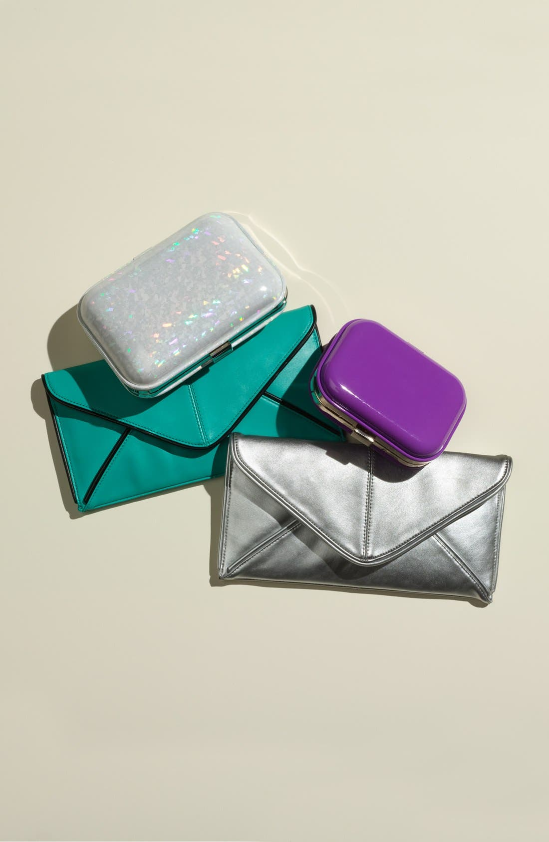 Alternate Image 2  - Expressions NYC Faux Leather Envelope Clutch
