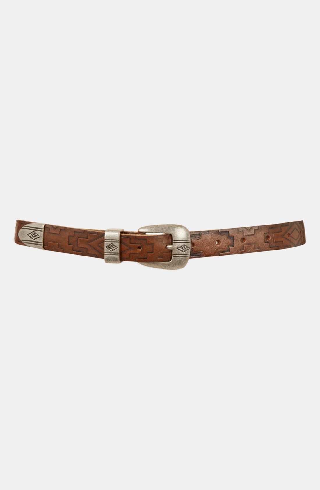 Alternate Image 1 Selected - Topshop 'Aztec' Embossed Leather Belt