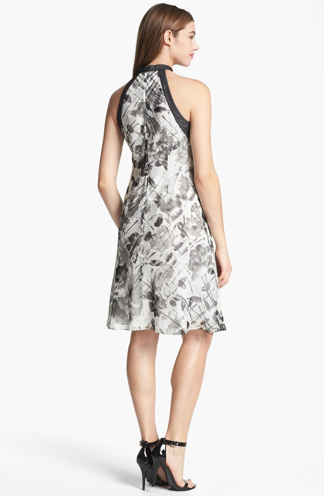 Alternate Image 2  - Marc New York by Andrew Marc A-Line Chiffon Dress